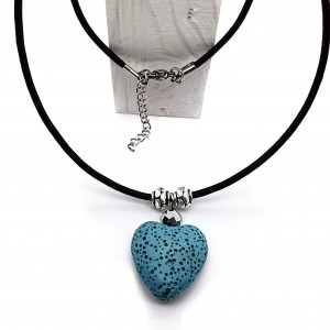Collar Corazón Lava Color...