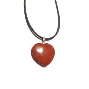 Colgante corazón Jaspe rojo Rodado Natural