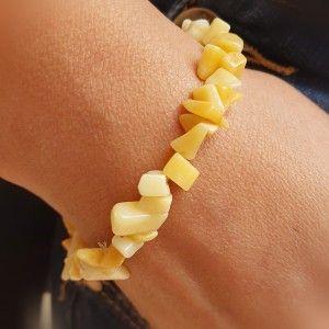 Pulsera jaspe amarillo chip...