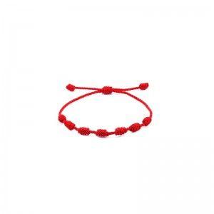 Pulsera Roja 7 nudos de protección Ajustable