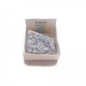 Sodalita Piedra en bruto natural en cajita de coleccion 4x4 cm