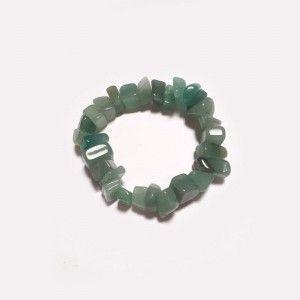Pulsera piedra mineral cristal cuarzo verde chip grande