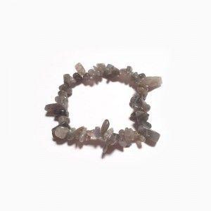 Pulsera Labradorita Piedra Natural Elástica