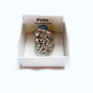 Pirita Chispa Natural de Peru Para Abundancia Prosperidad caja de colección 4x4