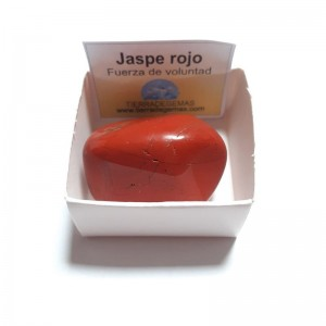 Jaspe Rojo Piedra Natural Pulida Rodado 3-4 cm en Caja de colección (proteccion)