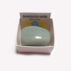 Aventurina Verde Piedra Natural Rodado 3-4 cm En caja de coleccion (bienestar)