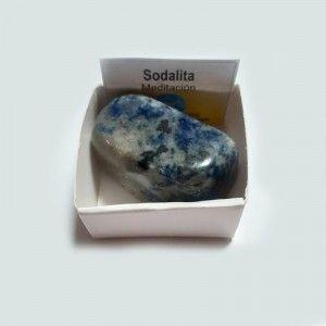 Sodalita Piedra Natural Rodado Pulido 3-4 cm En caja de coleccion