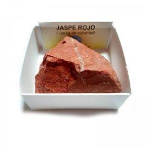 Jaspe Rojo Piedra En Bruto Natural En Cajita de colección 6x6 cm