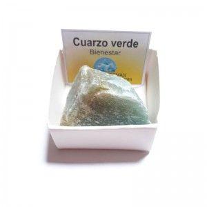 Cuarzo Verde Piedra Cristal en Bruto Natural 3-4 cm En Cajita De colección