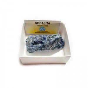 Cuarzo Sodalita Piedra Cristal En Bruto Natural En Cajita de Coleccion 6x6 cm