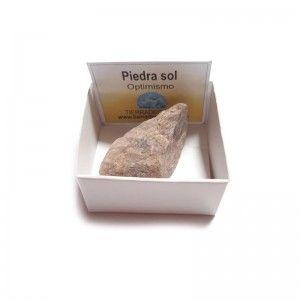 Piedra Sol En Bruto Cristal Natural En cajita De Colección 4x4 cm Cuarzo Sol