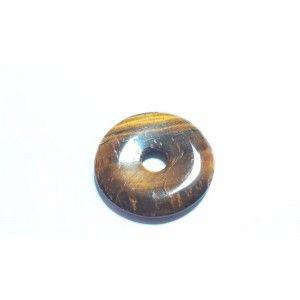 Ojo de Tigre Piedra Natural En Forma de Donut 3cm de diametro