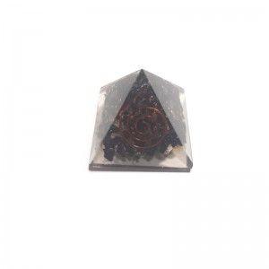 Piramide Orgonita Turmalina Negra Piedra Natural 4x4 cm