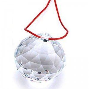 Bola de feng shui 3cm con hilo rojo