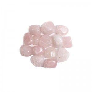 15 Rodados de Cuarzo Rosa Pequeños