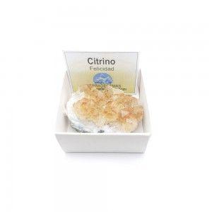 Citrino Drusa 3-4 cm en caja de colección