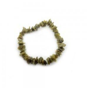 Pulsera Jade verde chip...