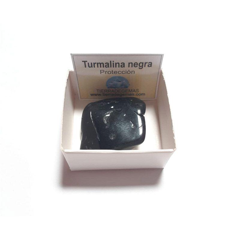 Piedra turmalina negra pulida 3-4 cm