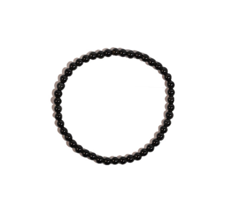 Pulsera turmalina negra bolas 4mm