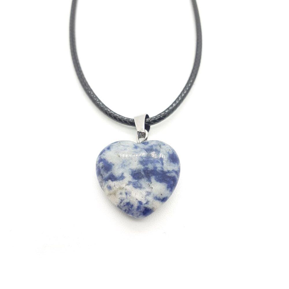 corazón sodalita piedra natural