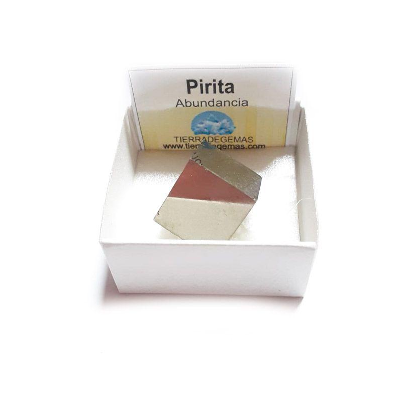 pirita cubica natural en caja de coleccion