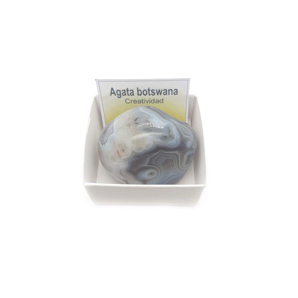 Agata botswana piedra rodada natural
